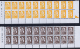 2018-20 / LES 4 COINS DATés Marianne L'engagée De 20 Ex-0.01 €+0.05 €+0.10 € +1 €-variété Décentrage-retirages-NEUF.... - 2010-....