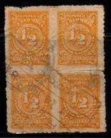 "A714G -KOLUMBIEN - 1908. USED BLOCK - MI#: 220 - ""BOGOTA"" CANCEL - Colombia"