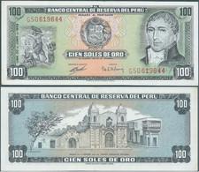 BANKNOTE PERU 1969 , 100 Soles De Oro,New - UNC      1969!!! - Perú