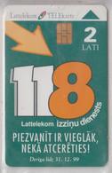 LATVIA 1998 INFOSERVICE 118 - Latvia