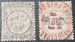 Timbre Taxe N° 37 à 48 Avec Oblitération Cachet à Date Centrale D'Epoque  TB - 1859-1955 Used