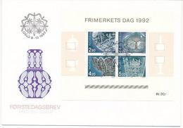 Mi Block 18 FDC / Stamp Day, Glass, Glassblower Art  - 9 October 1992 - FDC