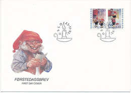 Mi 1112-13 FDC / Yule, Christmas, Elves, Trolls  - 23 November 1992 - FDC