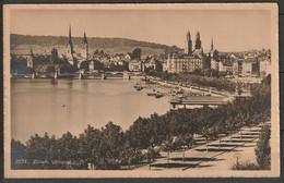 Switzerland Zurich Utoquai & View Of City 1910 Mailed - ZH Zurich