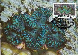 Marshall Islands 1986 Maxicard Sc #112 14c Small Giant Clam WWF - Marshallinseln