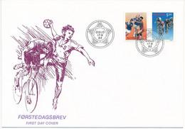 Mi 1129-30 FDC / Women's Handball World Championships, Cycling World Championships  - 17 June 1993 - FDC