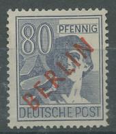 Berlin 1949 Rotaufdruck 32 Postfrisch Geprüft, Zahnfehler (R19176) - Ungebraucht