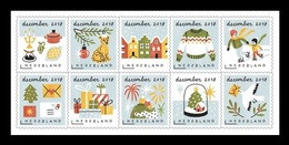 Netherlands 2018 Mih. 3773/82 Christmas. December Stamps. Getting Into The Fesitive December Spirit MNH ** - Unused Stamps