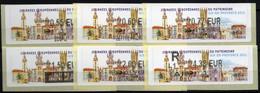 Lot 6 Vignettes Illustrées LISA 2 Journées Du Patrimoine (2011) : 6 Tarifs Voir Details (YT 1096) - 1999-2009 Illustrated Franking Labels