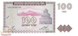 ARMENIA 100 DRAM 1993 PICK 36b UNC - Armenia
