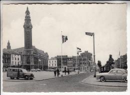 BELGIQUE Charleroi : Place Du Manège Et Hotel De Ville : Bon 1er Plan Automobiles - CPSM CPM GF -  Belgium - Charleroi