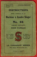 ** LIVRE  MACHINE  à  COUDRE  SINGER  N° 66 ** - Do-it-yourself / Technical