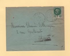 Retour A L Envoyeur - Relations Postales Momentanement Suspendues - Destination Algerie - WW II