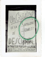 Photo 72mmX102mm  Distillerie Gembloux Descampe Distillerie De Stockay Freres - Gembloux