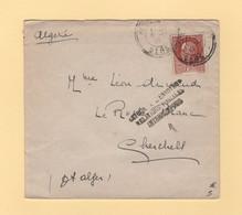 Retour A L Envoyeur Relations Postales Interrompues - 1942 - Gers Destination Chercell Algerie - WW II