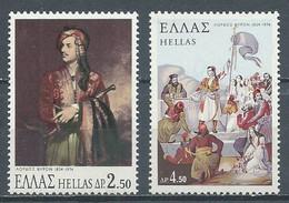 Grèce YT N°1142/1143 Lord Byron Neuf ** - Grèce