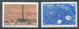 Grèce YT N°1391/1392 Astronome Aristarque De Samos Neuf ** - Grèce