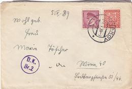 TSCHECHOSLOWAKEI 1939 - 20 H + 1 K Auf Brief (ohne Inhalt) - Czechoslovakia
