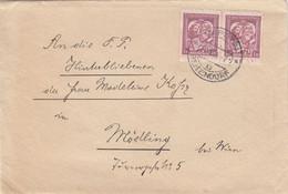 TSCHECHOSLOWAKEI 1935? - 2x1 K Auf Brief (ohne Inhalt) - Czechoslovakia