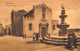 TAORMINA SICILIA ITALY~FONTANA Dei DUOMO~SEPIA PHOTO POSTCARD 49144 - Altre Città