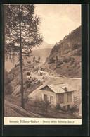 Cartolina Belluno-Cadore, Ferrovia, Sbocco Della Galleria Sacco - Belluno