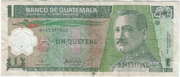 Guatemala 1 Quetzal 12-3-2008 Pk 115a Polimero Ref 936-1 - Guatemala