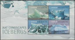 AUSTRALIAN ANTARCTIC TERRITORY - USED 2011 Icebergs Souvenir Sheet - Used Stamps