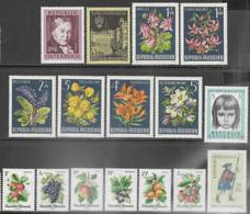 Austria   1966   Sc#758-9, 764-9  Flowers Set, 777-83, B322   MH,   2016 Scott Value $7.50  Most Are MLH. - 1945-.... 2. Republik