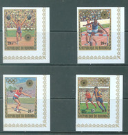 BURUNDI - 1972 - MNH/*** LUXE - OLYMPIC GAMES MUNICH - COB PA245-248 IMPERFORATED BORD DE FEUILLE - Lot 22005 - 1970-79: Ungebraucht