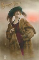 Femme - Mode Fourrure Chapeau Plume      N 1677 - Women