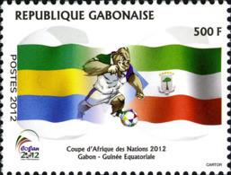 GABON 1201/02 Coupe D'Afrique Des Nations Football, Gorille, Guinée équatoriale, Drapeaux, Armoiries - Fußball-Afrikameisterschaft