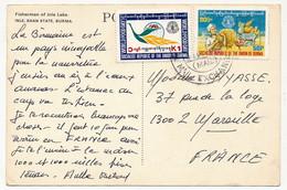 "Birmanie - CPM Affr 2 Valeurs ""Socialist Républic Of The Union Of Burma"" World Food Day - Myanmar (Burma 1948-...)"