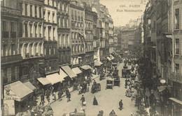 PARIS  Rue Montmartre Commerces Voitures Recto Verso - Arrondissement: 01