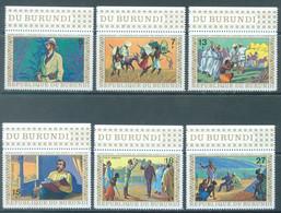 BURUNDI - 1973 - MNH/*** LUXE - STANLEY LIVINGSTONE - COB 555-557 PA 265-PA 267 PERFORATED - Lot 22208 - 1970-79: Ungebraucht