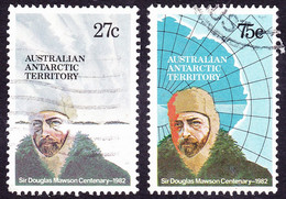 AUSTRALIAN ANTARCTIC TERRITORY (AAT) 1982 QEII 27c/75c Sir Douglas Mawson Centenary Pair SG53/54 FU - Used Stamps