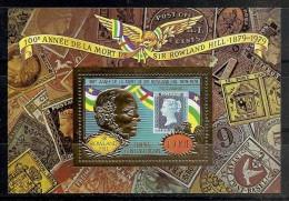 CELEBRIDADES/ROWLAND HILL - REPUBLICA CENTROAFRICANA 1978 - Yvert #H28A (Lujo) - MNH ** - Rowland Hill