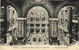 PARIS  GRANDS MAGASINS DU LOUVRE  Le Hall Des Soieries RV Affranchissement Mecanique - Arrondissement: 01