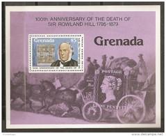 CELEBRIDADES/ROWLAND HILL - GRENADA 1979 - Yvert #H80 - MNH ** - Rowland Hill