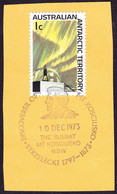 AUSTRALIAN ANTARCTIC TERRITORY (AAT) 1966 QEII 1c Multicoloured Aurora & Camera Dome SG8 FU With Mt Kosciusko Cent PM - Used Stamps