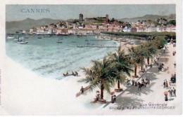 CANNES  ( 06 )  VUE  GÉNÉRALE -SOUVENIRS  DES  BISCUITS  GEORGES - CPA ( 20 / 9 / 392 ) - Cannes
