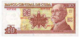 CUBA 10 PESOS 2018 Pick 117 Unc - Cuba