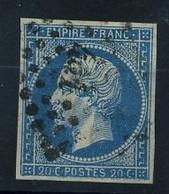 N 14A Ob PC441 - Variété : 0 En Partie Effacé - 1853-1860 Napoleon III
