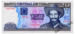 CUBA 20 PESOS 2015 Pick 122j Unc - Cuba