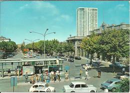 Rimini (E. Romagna) Piazzale Battisti E Stazione FFSS, Autobus E Auto D'Epoca, Battisti Square And Railway Station, Bus - Rimini