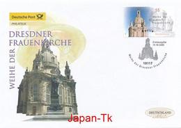 GERMANY Mi. Nr. 2491 Weihe Der Dresdner Frauenkirche - FDC - [7] Repubblica Federale