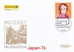GERMANY Mi. Nr. 2512 250. Geburtstag Von Wolfgang Amadeus Mozart - FDC - [7] Repubblica Federale