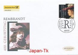 GERMANY Mi. Nr. 2550 400. Geburtstag Von Rembrandt - FDC - [7] Repubblica Federale
