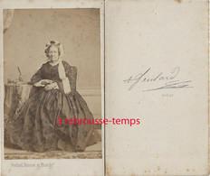 CDV Par Feulard-Le Havre-mode Second Empire-femme âgée - Ancianas (antes De 1900)
