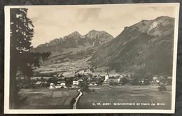 HAUTE-GRUYERE: GRANDVILLARD ET DENT DE BROC 1928 - FR Freiburg