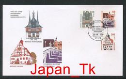 GERMANY  Mi. Nr.  2139-2141 A  Freimarken: Sehenswürdigkeiten - FDC - [7] Repubblica Federale